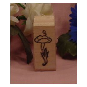 1 Flower with Stem Art Rubber Stamp