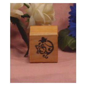 Flower Art Rubber Stamp