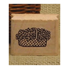 Large Basket of Flowers Art Rubber Stamp