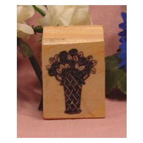 Vase of Flowers Art Rubber Stamp