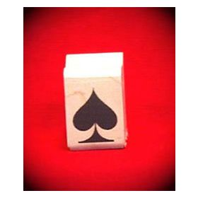 Spade on Card Art Rubber Stamp