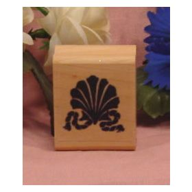 Shell and Rope Border Art Rubber Stamp