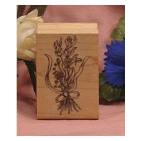 Bundle of Flowers Art Rubber Stamp