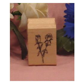 2 Roses Art Rubber Stamp