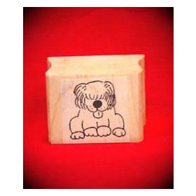 Sheepdog Art Rubber Stamp