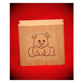Puppy Art Rubber Stamp