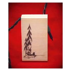 Canoe Art Rubber Stamp