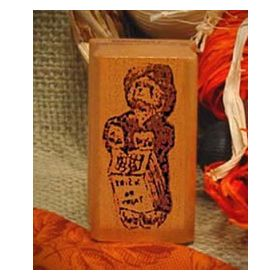 Bear Trick Or Treating Art Rubber Stamp
