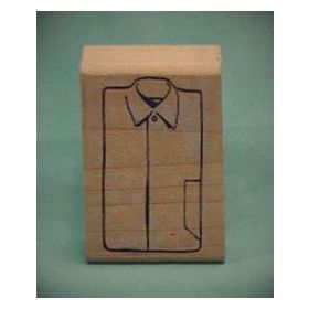 Solid Shirt Front Art Rubber Stamp