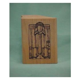 Open Striped Shirt Front Art Rubber Stamp