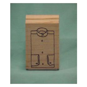 Dark Stripe Shirt Front Art Rubber Stamp