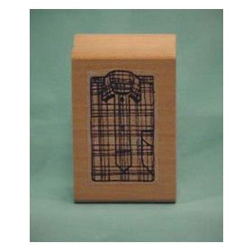Plaid Shirt Front Art Rubber Stamp