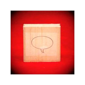 Small Left Thought Balloon Oval Art Rubber Stamp