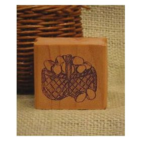 Basket of Eggs Art Rubber Stamp