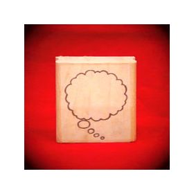 Large Left Thought Cloud Art Rubber Stamp