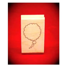 Small Right Thought Cloud Art Rubber Stamp