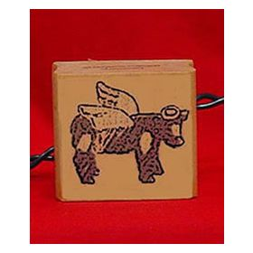 Cow Angel Artwork Stamp