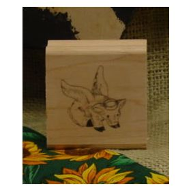 Pig Angel Art Rubber Stamp