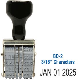 Line Date Stamp Size 3/16 Characters