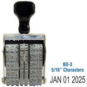 Line Date Stamp Size 5/16 Characters