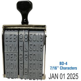 Line Date Stamp Size 7/16 Characters