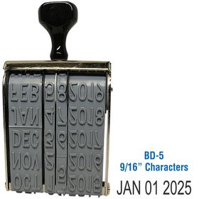 Line Date Stamp Size 9/16 Characters