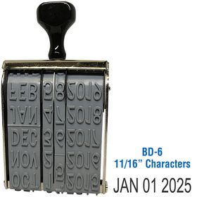 Line Date Stamp Size 11/16 Characters