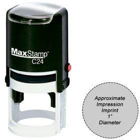 Self Inking Stamp C24 Size 1.0 Diameter