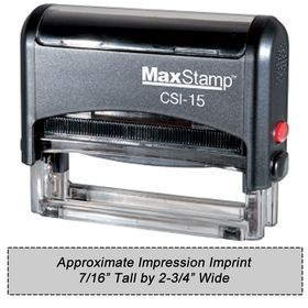Self Inking Stamp CSI-15 Size 7/16 x 2-3/4