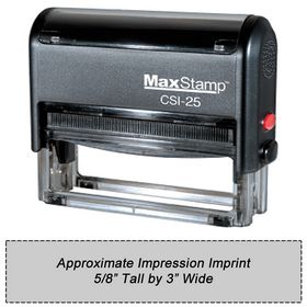Self Inking Stamp CSI-25 Size 5/8 x 3