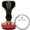 Cooke Rotary Time & Date Stamp 31 Day Dial 1-5/8 Size
