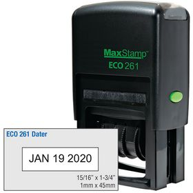 ECO Series Self Inking Date Stamp 15/16 x 1-3/4