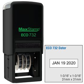 ECO Series Self Inking Date Stamp 1-3/16 x 1-3/16