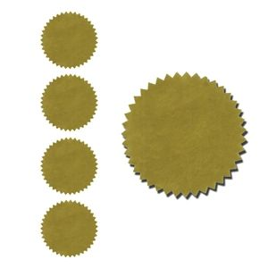 Gold Foil Seals Qty 40
