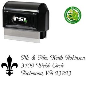 Pre-Inked Phyllis Creative Address Ink Stamp