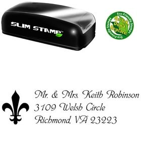 Slimline Phyllis Creative Address Ink Stamp