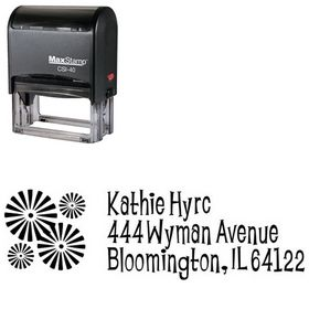 Self Stamping Burst Lounge Bait Personal Address Ink Stamp