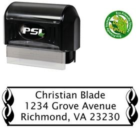 PSI Pre-Ink Link Border Lucida Sans Return Address Ink Stamp