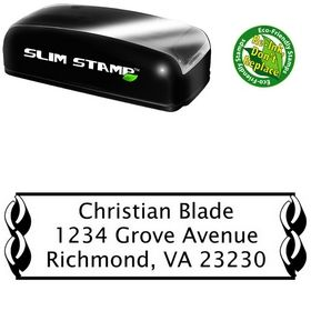 Slim Link Border Lucida Sans Return Address Ink Stamp
