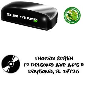 Slim Pre-Ink Record Juice Personalized Address Rubber Stamp