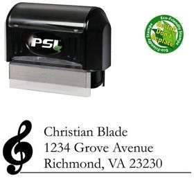 Pre-Inked Music Garamond Customized Address Stamp