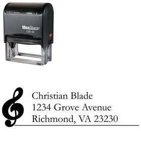 Self Inking Music Garamond Customized Address Stamp