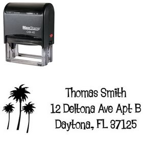 Self-Ink Palms Lounge Bait Creative Address Stamp