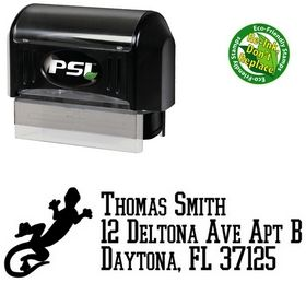 PSI Pre-Ink Gecko College Boy Customized Address Stamp