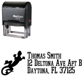 Self Stamping Gecko College Boy Customized Address Stamp