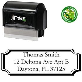 Pre-Inked Plaque Garamond Address Stamper