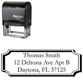 Self-Inking Plaque Garamond Address Stamper