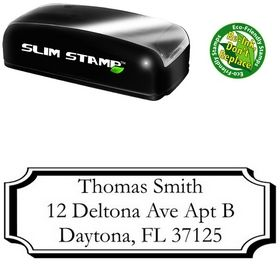 Slim Pre-Ink Plaque Garamond Address Stamper
