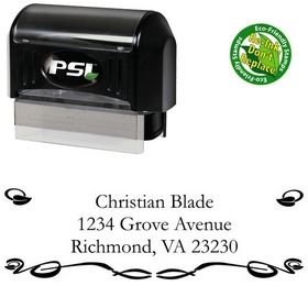 PSI Pre-Ink Vine Garamond Customized Address Stamper