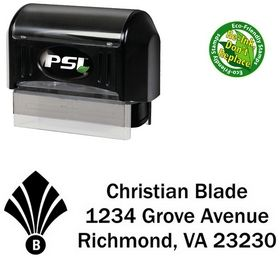 PSI Pre-Ink Fan Initial Franklin Gothic Initial Address Stamper